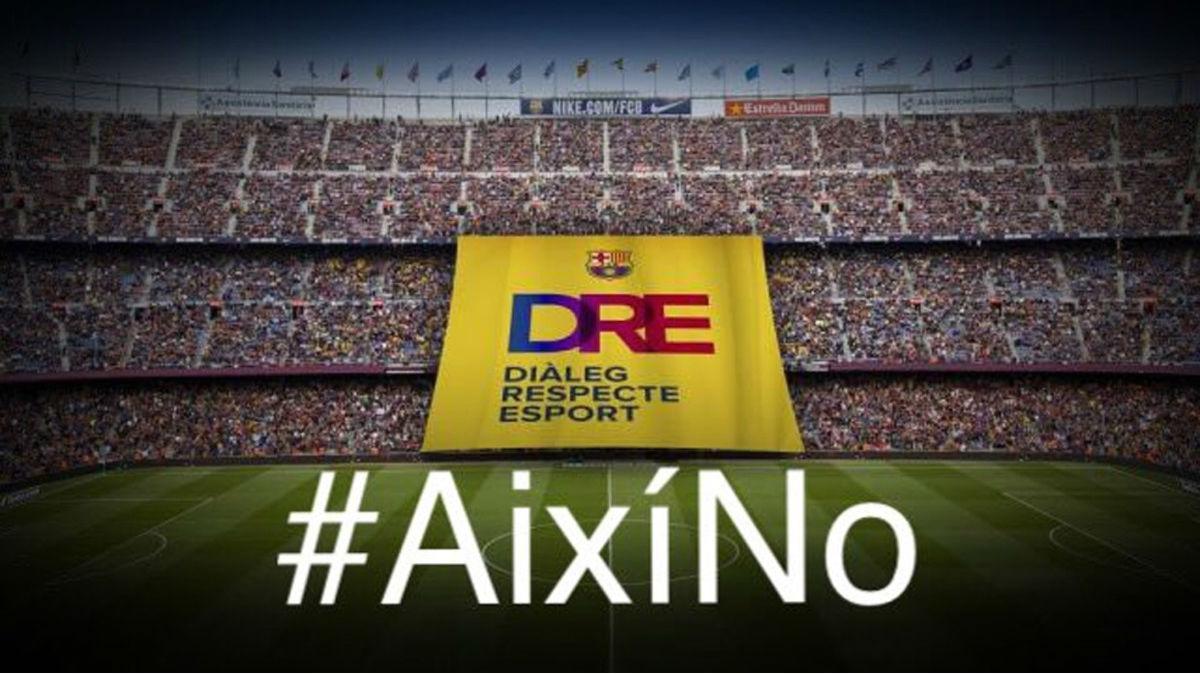 Los empleados del FC Barcelona se solidarizan ante los encarcelamientos de los dirigentes del ANC y Ómnium Cultural