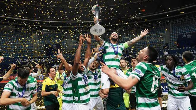El Sporting celebró el título por todo lo alto
