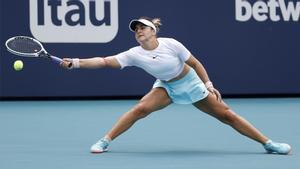 Bianca Andreescu, en un partido contra Ashleigh Barty