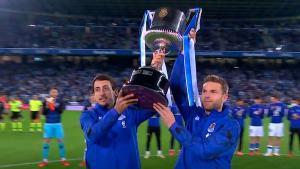 La Real Sociedad, por fin, ha podido celebrar la Copa del Rey con sus aficionados