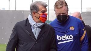 Joan Laporta y Ronald Koeman analizarán el futuro del Barça