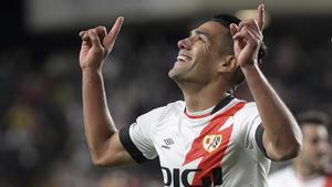 Falcao sí rugió: así fue el gol que dio la victoria al Rayo sobre el Barça