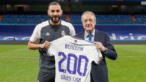 Benzema, 200 goles con el Madrid en LaLiga