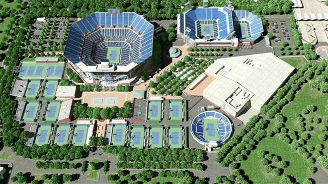 La USTA pone a punto las pistas del US Open
