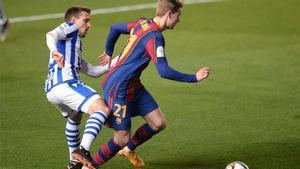 El 1x1 del Barça ante la Real Sociedad al descanso
