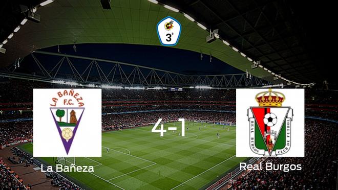 Tres puntos para el casillero de La Bañeza tras golear al Real Burgos CF (4-1)