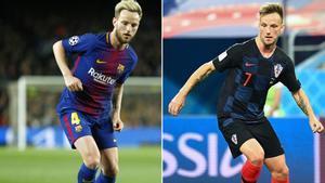 Ivan Rakitic, imprescindible en el Barça y en Croacia, es el futbolista con más partidos en la temporada 2017/18