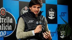 Carlos Sainz, en la rueda de prensa que ha ofrecido en Madrid
