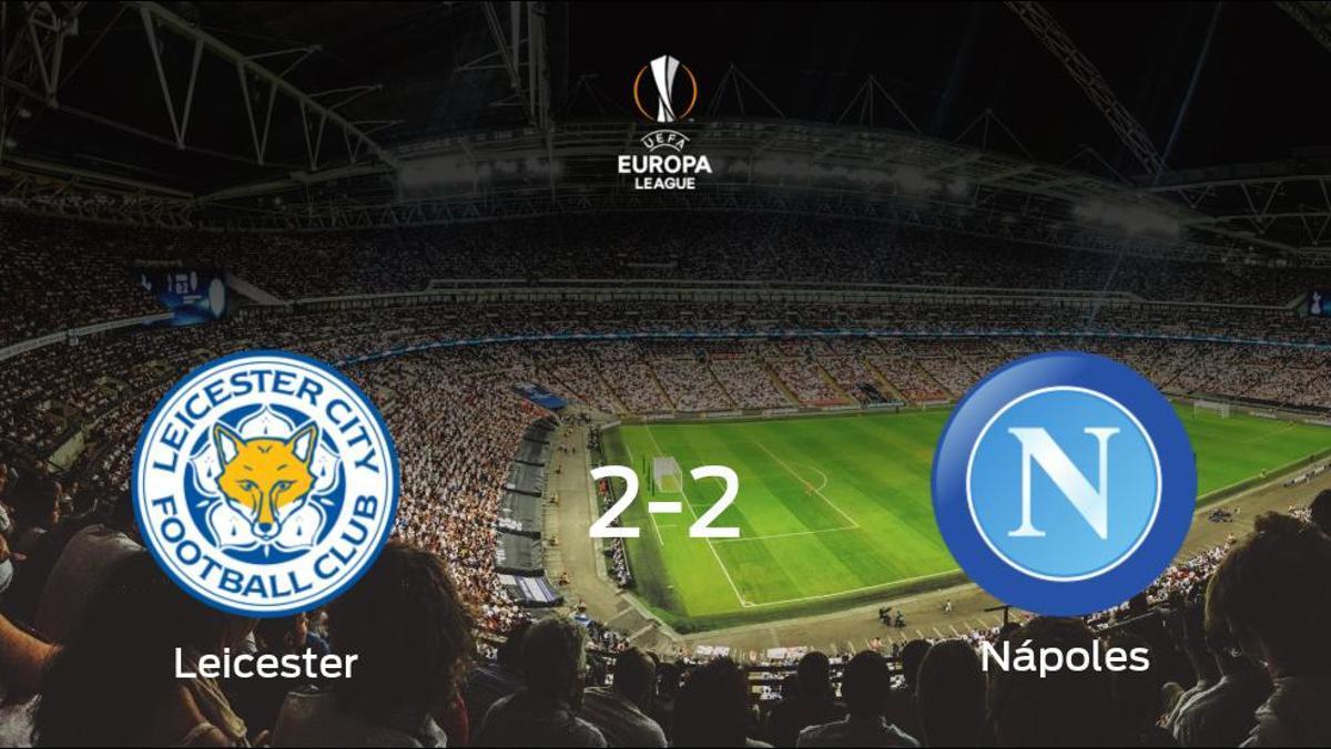 El Leicester City y el Nápoles se reparten los puntos tras su empate a dos