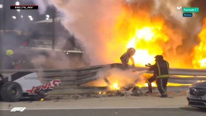 Grosjean sorteó la tragedia en Bahrein