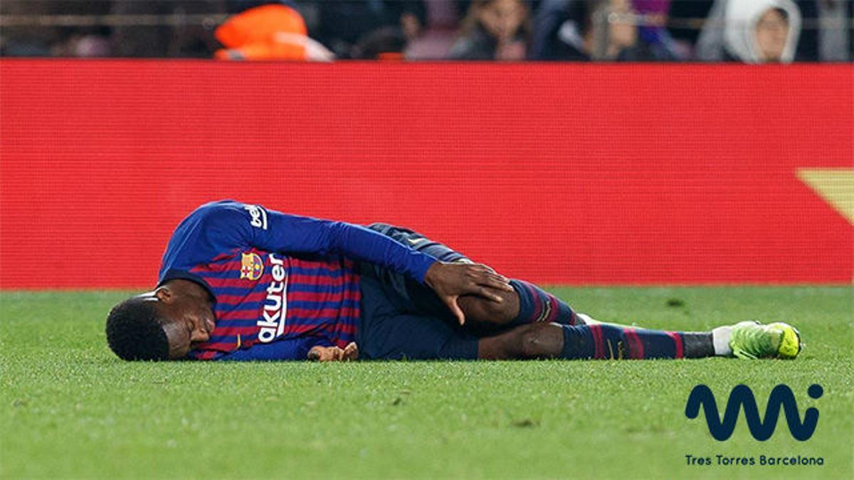 Así fue la lesión de Dembélé ante el Leganés