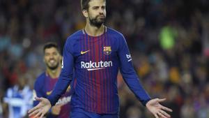 LALIGA   Barça-Espanyol (5-0): El gol de Piqué que puso el 4-0