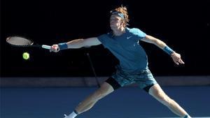 Andrey Rublev, durante el Open de Australia.