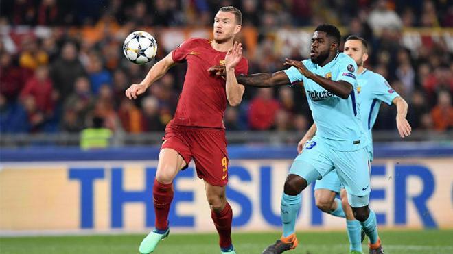 LACHAMPIONS | Roma - FC Barcelona (3-0): Umtiti no pudo evitar el gol de Dzeko