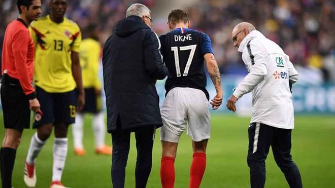 Digne no pudo terminar el Francia-Colombia del 23 de marzo. Estará de baja unas tres semanas