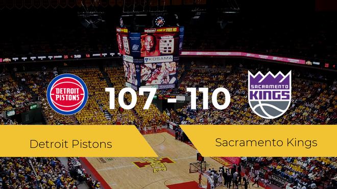 Victoria de Sacramento Kings ante Detroit Pistons por 107-110