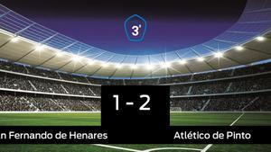 El San Fernando de Henares pierde 1-2 frente al Atlético de Pinto