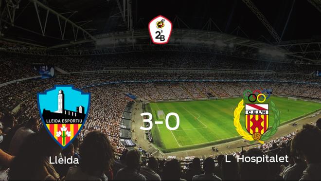 Goleada del Lleida Esportiu por 3-0 ante el L´Hospitalet