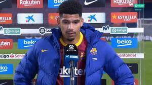 Araújo: El gol ha sido una cagada mía
