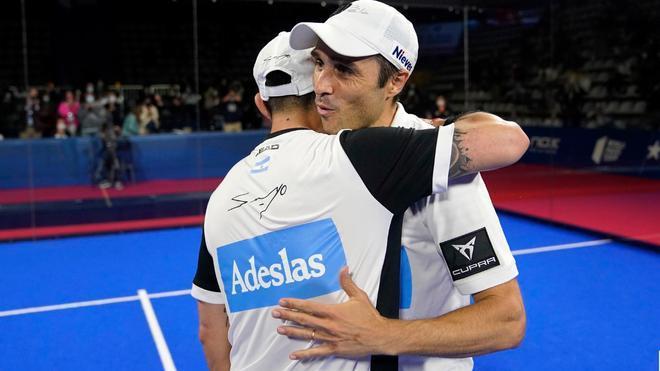 Fernando Belasteguin y Sanyo Gutiérrez celebran su pase a la final