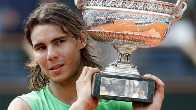 Rafa Nadal, ganador de Roland Garros (2008)