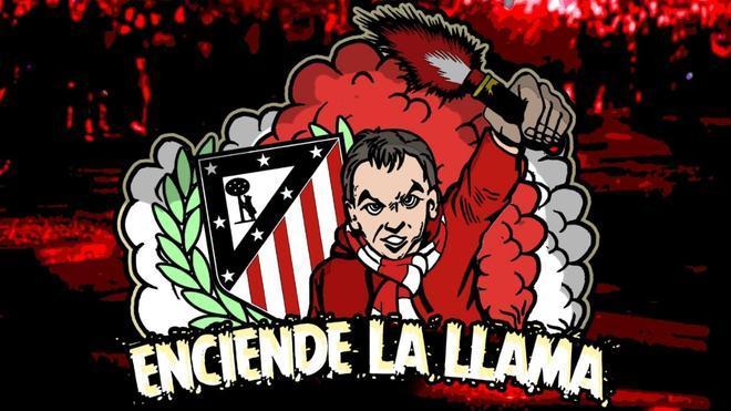 Fragmento del cartel para el llamamiento a la afición del Atlético.