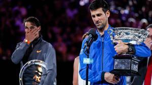 Novak Djokovic elogió a Rafa tras la final