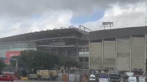 El diluvio que está cayendo en el Camp Nou