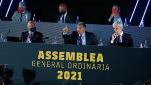Un momento de la Asamblea del FC Barcelona