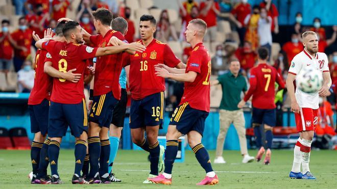 Morata abrió la lata ante Polonia