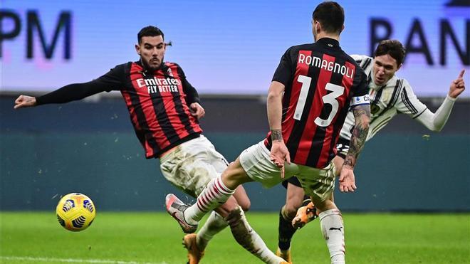 Federico Chiesa, autor de dos goles, fue el mejor de la Juventus ante el Milan
