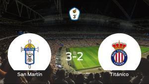 Los tres puntos se quedan en casa: San Martín 3-2 Real Titánico