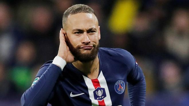 Neymar Jr. celebrando un gol con el PSG
