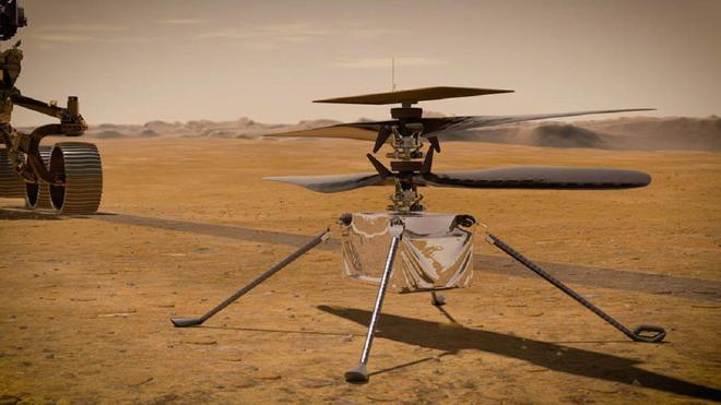 El helicóptero Ingenuity Mars esta listo para su primer vuelo