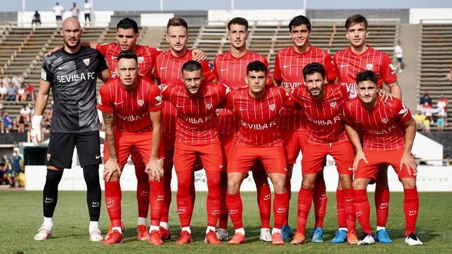 El once inicial del Sevilla que se enfrentó al Las Palmas en pretemporada