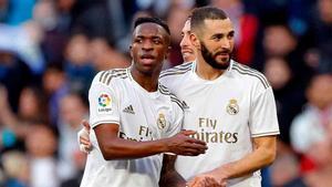 Zidane zanja la polémica Benzema-Vinicius