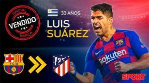 Oficial: Luis Suárez deja el Barça y se marcha al Atlético de Madrid