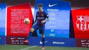 Coutinho dio sus primeros toques de balón como azulgrana