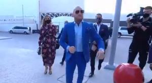 McGregor, a su llegada al pabellón.