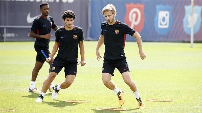 Sergi Samper, durante un entrenamiento en la Ciutat Esportiva
