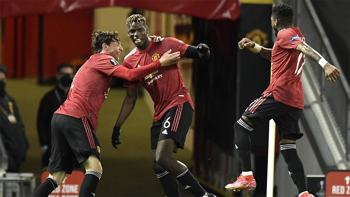 El gol de Pogba ante la Roma