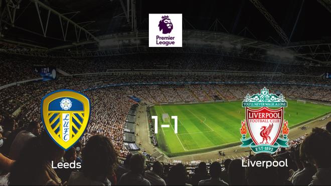 El Leeds United y el Liverpool reparten los puntos tras empatar a uno