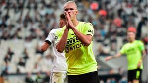 Contra el Besiktas, Haaland tampoco falló a su cita con el gol