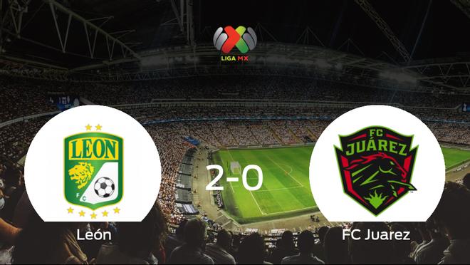 Tres puntos para el equipo local: León 2-0 FC Juarez