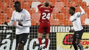 Empate insuficiente para Valencia y Osasuna