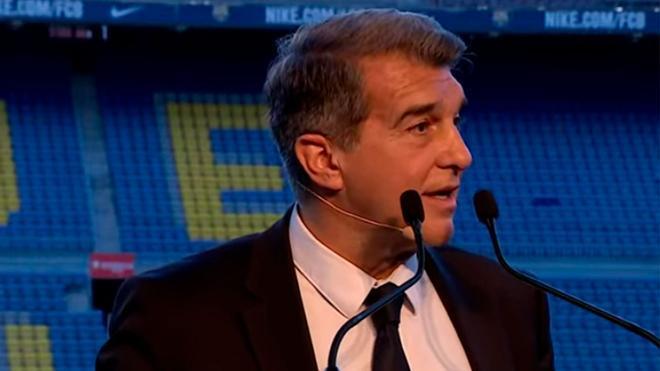 Laporta, durante su discurso