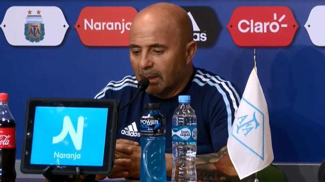 Sampaoli habló antes de enfrentarse a Perú