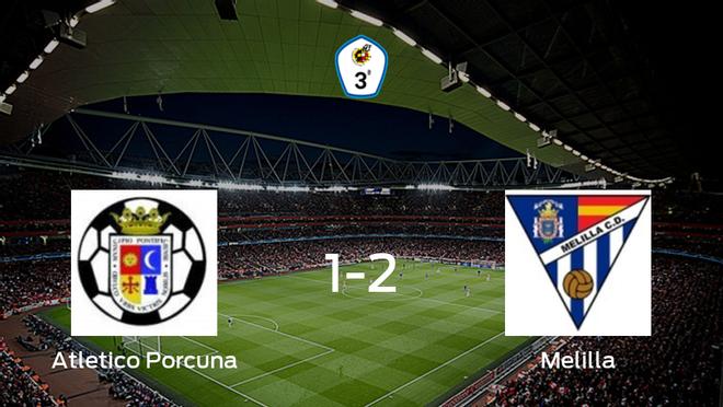 El Melilla CD se lleva tres puntos a casa después de vencer 1-2 al Atletico Porcuna