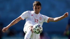 Eric Garcia, durante el partido contra Eslovaquia