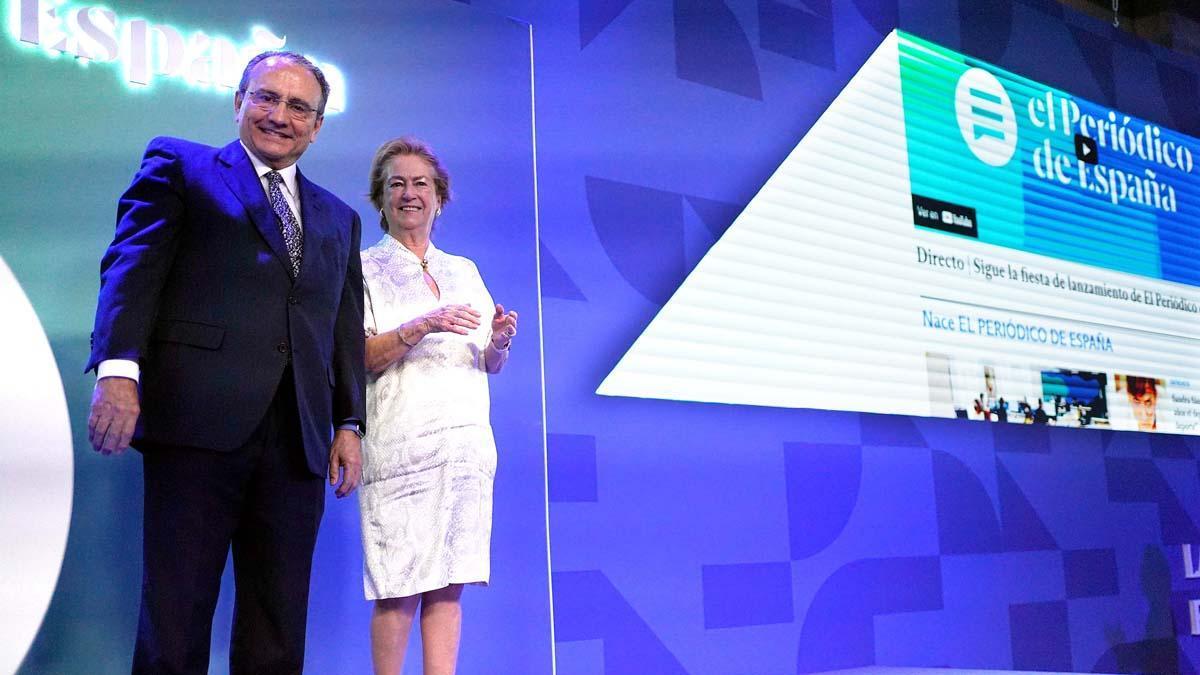 Javier Moll y Arantza Sarasola, presidente ejecutivo y vicepresidenta de Prensa Ibérica